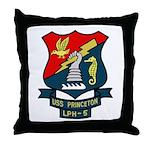 USS Princeton (LPH 5) Throw Pillow