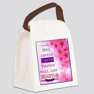 Hey Little Fighter Canvas Lunch Bag