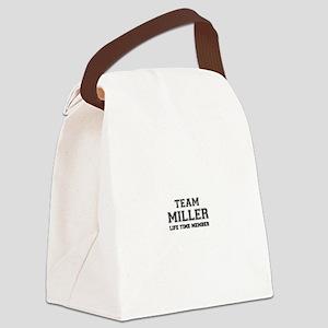 Team MILLER, life time member Canvas Lunch Bag