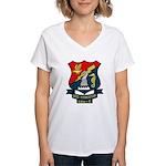 USS Princeton (LPH 5) Women's V-Neck T-Shirt
