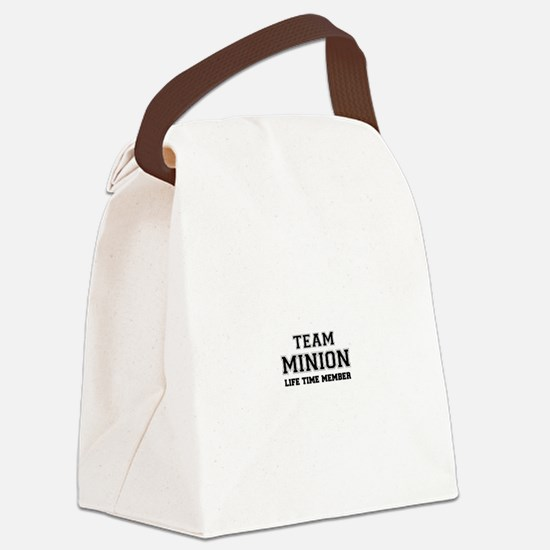 Team MINION, life time member Canvas Lunch Bag