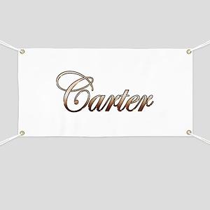 Gold Carter Banner