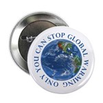 Stop Global Warming Ecology Button