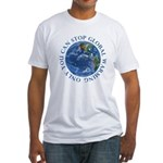 Stop Global Warming Ecology Fitted T-Shirt