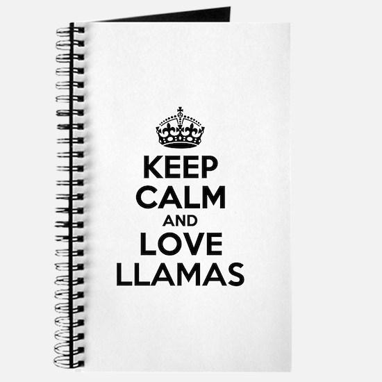 Keep Calm and Love LLAMAS Journal