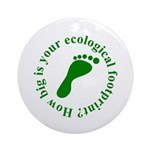 Ecological Footprint Ecology Ornament (Round)