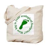 Ecological Footprint Ecology Tote Bag