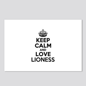 Keep Calm and Love LIONES Postcards (Package of 8)