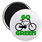 "Go Green Bicycle Ecology 2.25"" Magnet (10 pack)"
