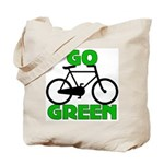 Go Green Bicycle Ecology Tote Bag