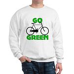 Go Green Bicycle Ecology Sweatshirt
