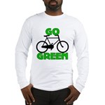 Go Green Bicycle Ecology Long Sleeve T-Shirt