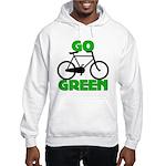 Go Green Bicycle Ecology Hooded Sweatshirt