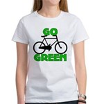 Go Green Bicycle Ecology Women's T-Shirt