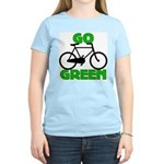 Go Green Bicycle Ecology Women's Light T-Shirt