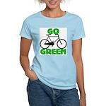 Go Green Bicycle Ecology Women's Light T-Shirt
