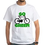 Go Green Bicycle Ecology White T-Shirt