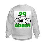 Go Green Bicycle Ecology Kids Sweatshirt