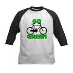 Go Green Bicycle Ecology Kids Baseball Jersey