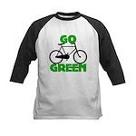 Go Green Bicycle Ecology Kids Baseball Jersey