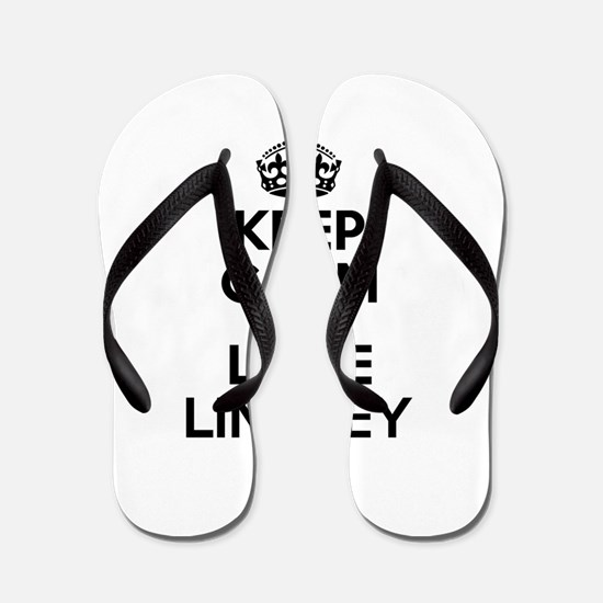 Keep Calm and Love LINDSEY Flip Flops
