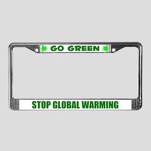 Go Green Frog Ecology License Plate Frame