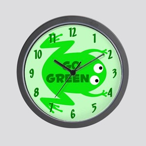 Go Green Frog Ecology Wall Clock
