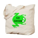 Go Green Frog Ecology Tote Bag