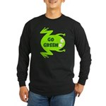 Go Green Frog Ecology Long Sleeve Dark T-Shirt
