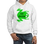 Go Green Frog Ecology Hooded Sweatshirt