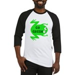 Go Green Frog Ecology Baseball Jersey