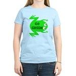 Go Green Frog Ecology Women's Light T-Shirt