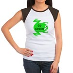 Go Green Frog Ecology Women's Cap Sleeve T-Shirt