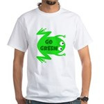 Go Green Frog Ecology White T-Shirt