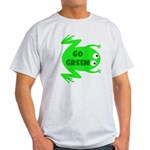 Go Green Frog Ecology Light T-Shirt