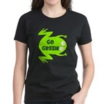 Go Green Frog Ecology Women's Dark T-Shirt
