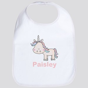 Paisley's Little Unicorn Bib