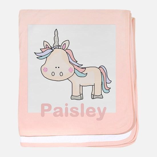 Paisley's Little Unicorn baby blanket