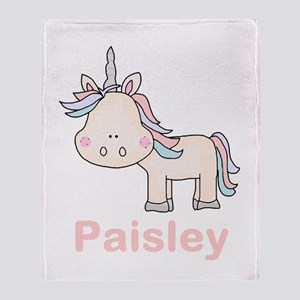 Paisley's Little Unicorn Throw Blanket