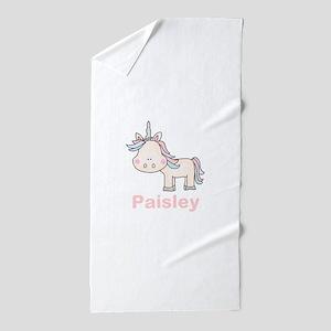 Paisley's Little Unicorn Beach Towel
