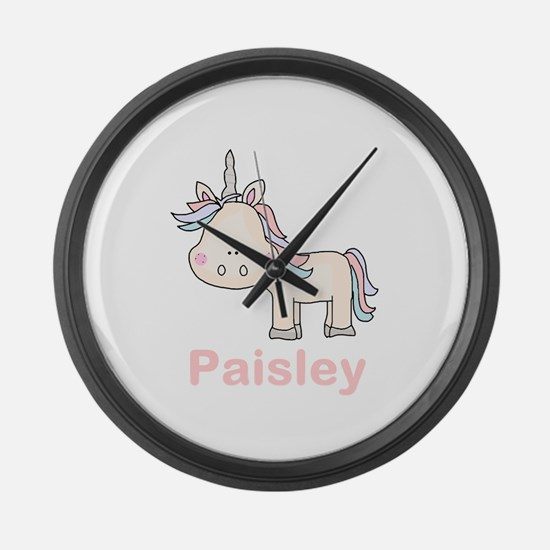 Paisley's Little Unicorn Large Wall Clock