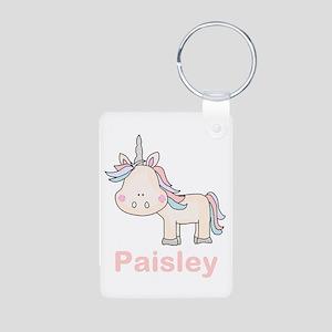 Paisley's Little Unicorn Aluminum Photo Keychain