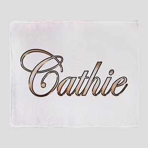 Gold Cathie Throw Blanket