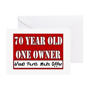 70 Year Olds Greeting Cards