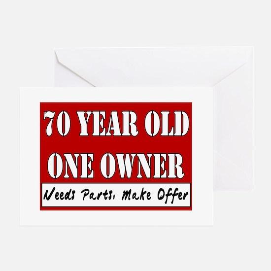 70th Birthday Greeting Cards