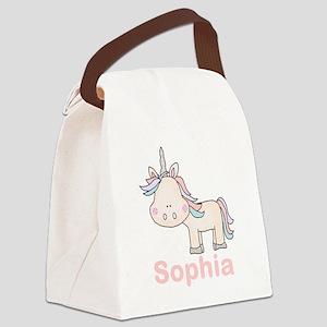 Sophia's Little Unicorn Canvas Lunch Bag