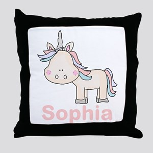 Sophia's Little Unicorn Throw Pillow