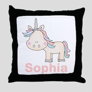 Sophia's Little Unicorn Throw Pillow