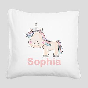 Sophia's Little Unicorn Square Canvas Pillow