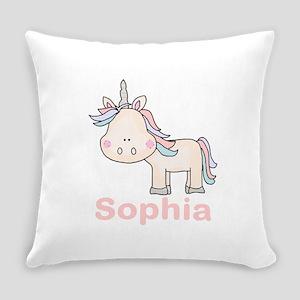 Sophia's Little Unicorn Everyday Pillow